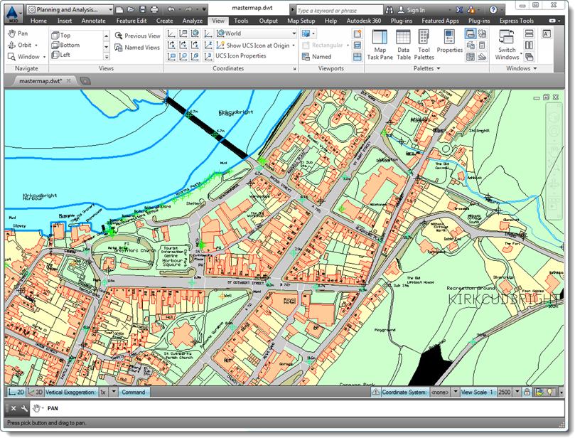 autocad map3d showing imported gml mastermap datea