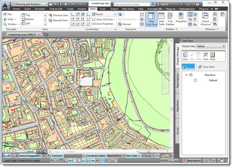 Combiningmastermapwithcontoursmap3d combining os mastermap topography layer with os terrain 50 contours in autocad map 3d sciox Images