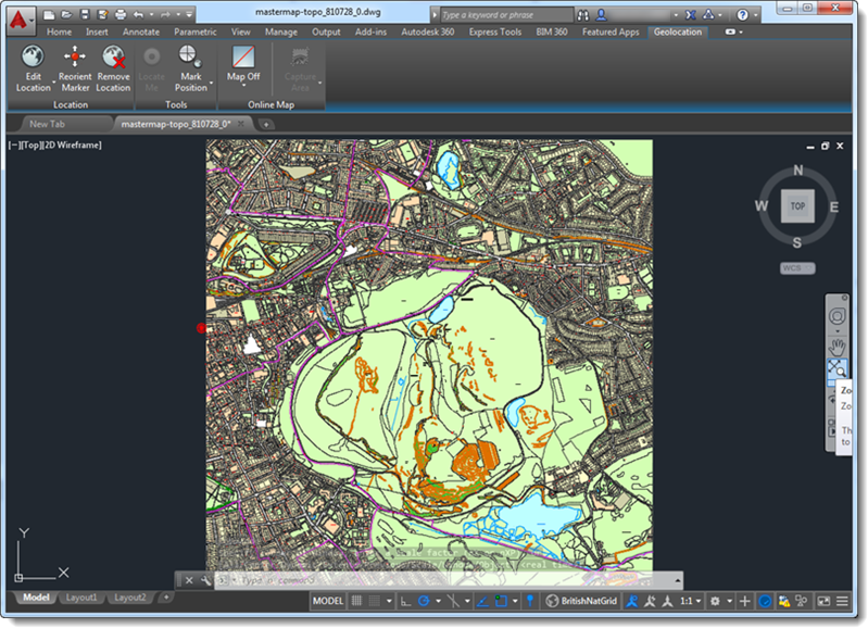 Contour Line Drawing In Autocad : Topographic map contours contour mapping services india