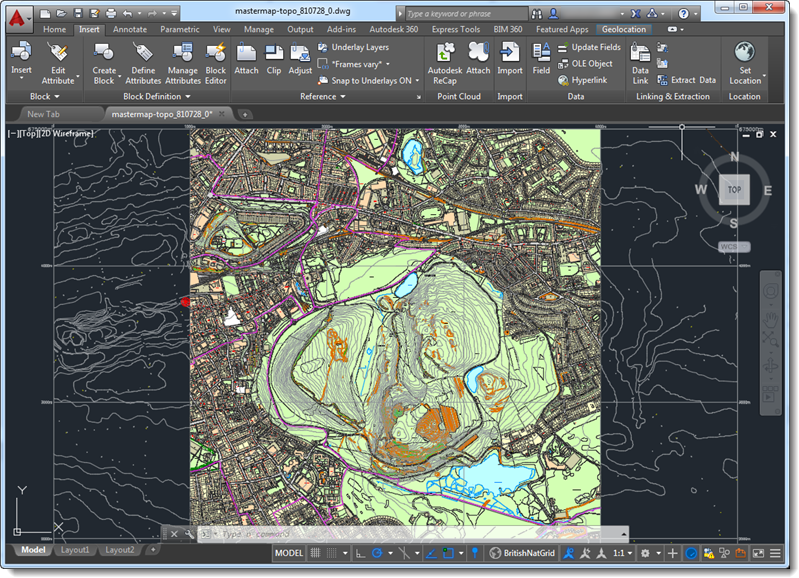 Contour Line Drawing Autocad : Combining mastermap with contours autocad