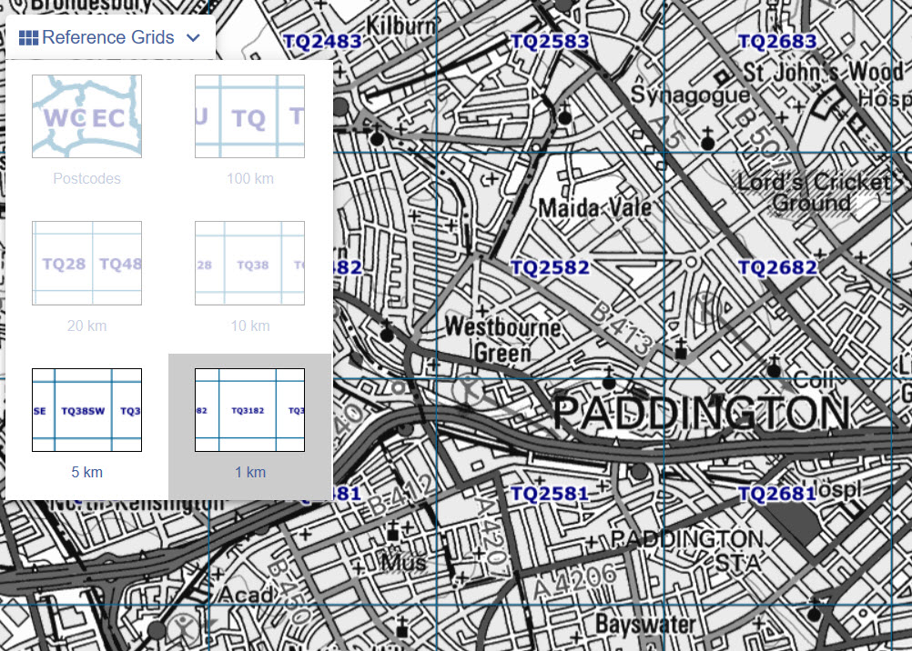 how to use Define Map Grid on